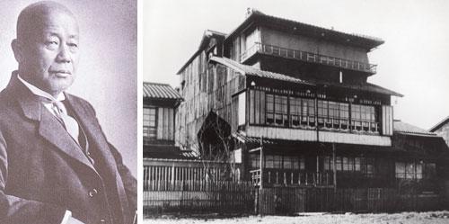 左:創立者・中川小十郎/右:清輝楼